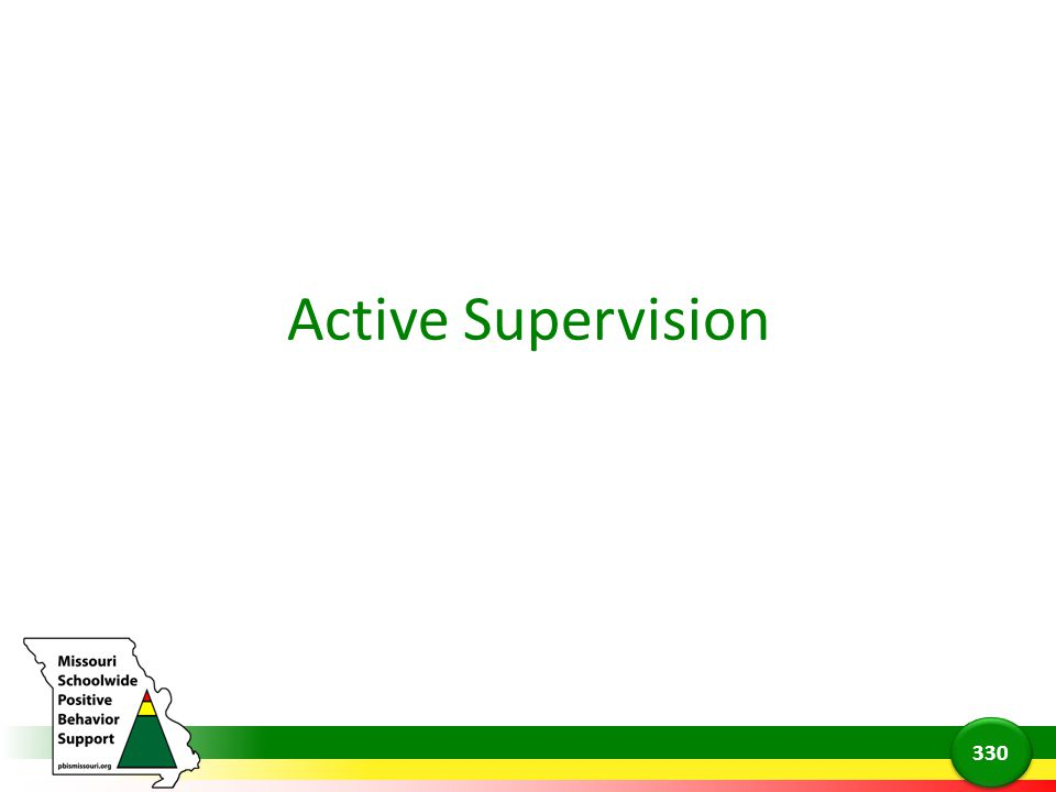 Active Supervision 330