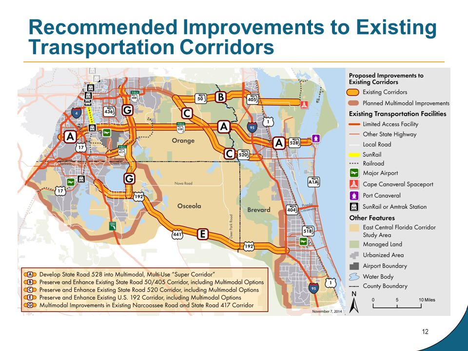 Recommended Improvements to Existing Transportation Corridors 12