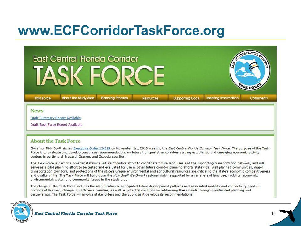 www.ECFCorridorTaskForce.org 18