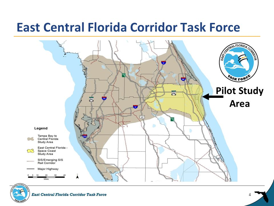 ► Created by Executive Order 13-319, November 1, 2013 ► Purpose: evaluating and developing consensus recommendations on future transportation corridors serving established and emerging economic activity centers in portions of Brevard, Orange, and Osceola Counties ► 13 members representing public, private, civic organizations East Central Florida Corridor Task Force 5