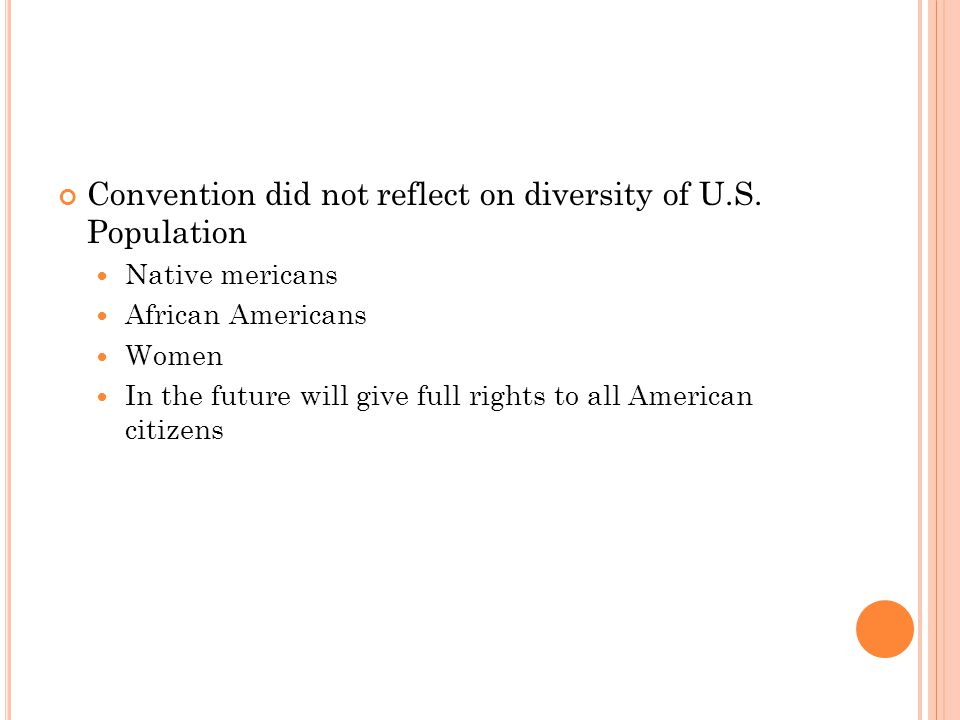 Convention did not reflect on diversity of U.S.