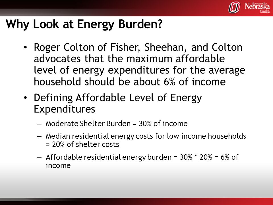 Why Look at Energy Burden.