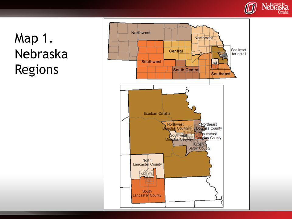 Map 1. Nebraska Regions