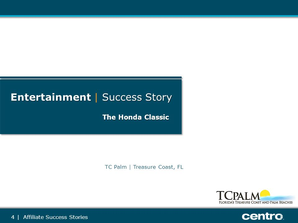5 The Honda Classic Retail Revenue: $14k Campaign Length: 1 Month Geography Targeted:: Advertiser Solutions Sold:: Past Solutions:: Newspaper Print TCPalm.com Yahoo.