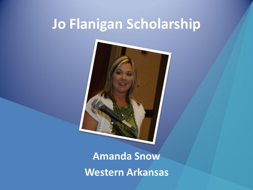 Jo Flanigan Scholarship Amanda Snow Western Arkansas