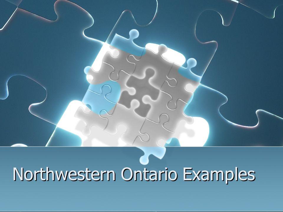 Northwestern Ontario Examples