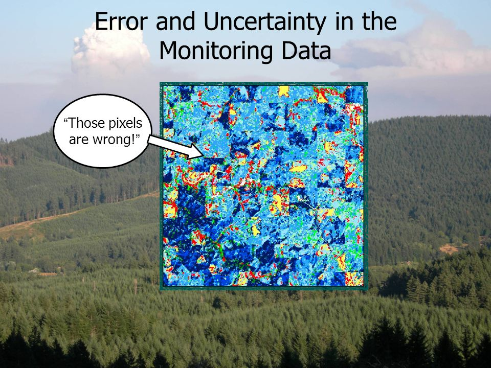 "Error and Uncertainty in the Monitoring Data "" Those pixels are wrong! """