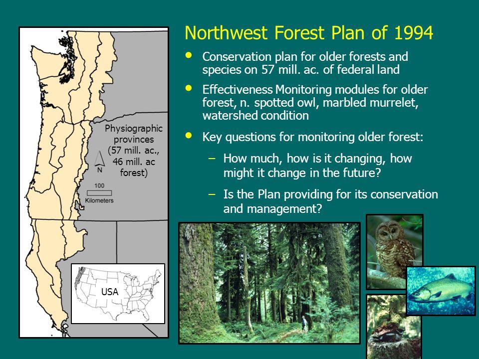Spatial change in Klamath province, 1996-2006 Not LSOG LSOG gain LSOG loss LSOG Nonforest Change is dramatic in some landscapes (2002 Biscuit Fire) Spatial change is quite noisy