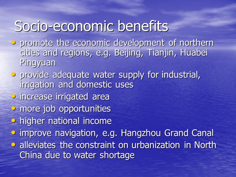 Socio-economic benefits promote the economic development of northern cities and regions, e.g.
