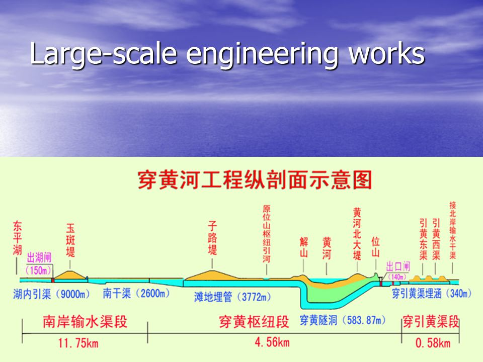 Large-scale engineering works