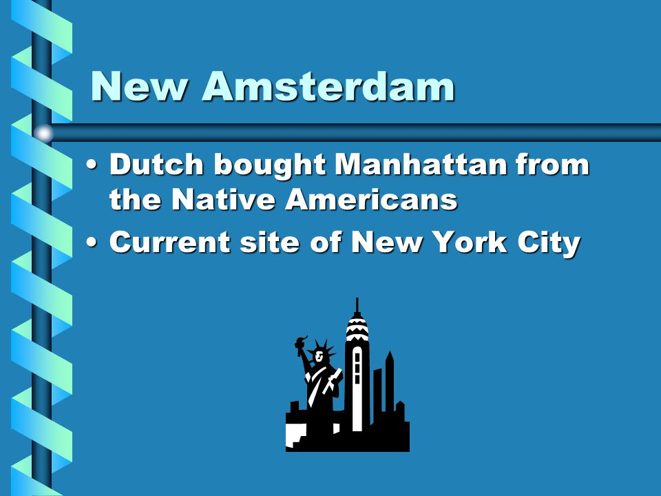 New Netherland Built by DutchBuilt by Dutch Located along the Hudson RiverLocated along the Hudson River Fort Nassau (1614) near Albany New YorkFort N