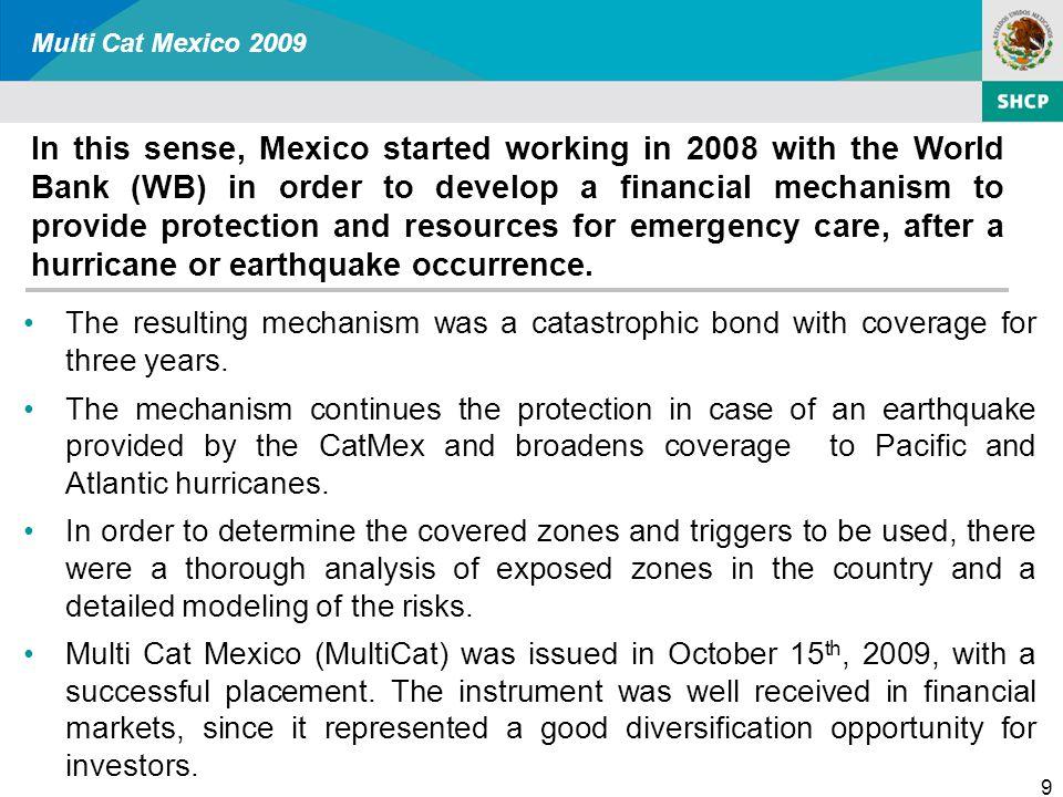 Multi Cat Mexico 2009-Eartquake 10 Cocos northwest area: magnitude ≥ 7.9 Richter scale.