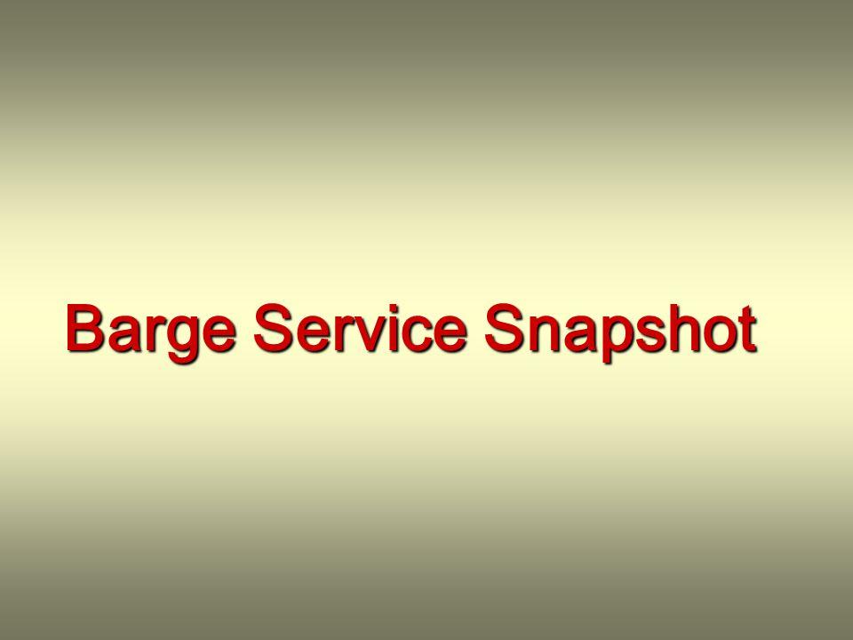 Barge Service Snapshot