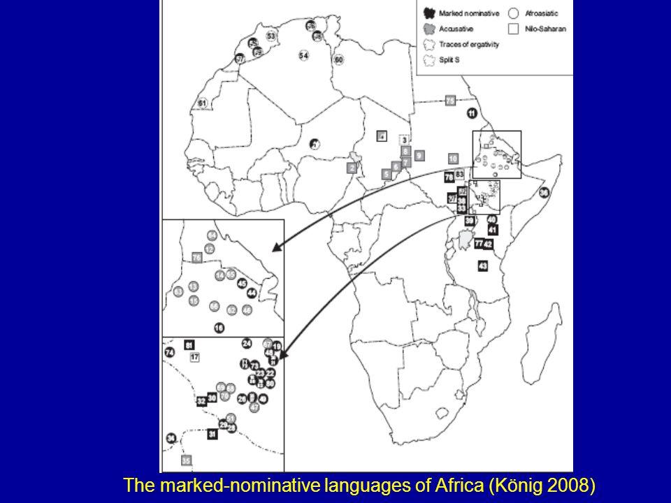 The marked-nominative languages of Africa (König 2008)