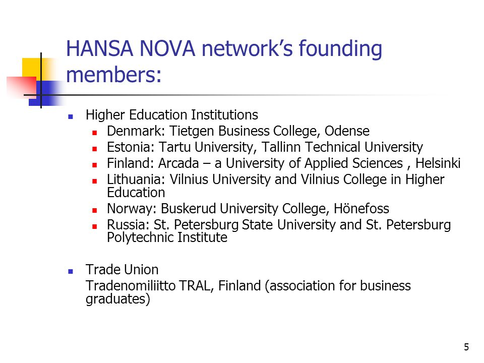6 Different roles of participating companies Provide practical input in different forms: Give presentations at network's seminars Receive students/researchers for interviews Provide feed-back on students' and researchers work Comment on the final Module's content and suitability for companies Disseminate information about Hansa Nova in own organisation and networks