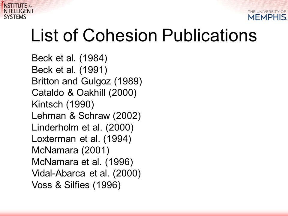 Beck et al.(1984) Beck et al.
