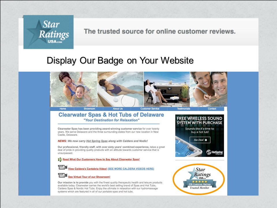 Display Our Badge on Your Website