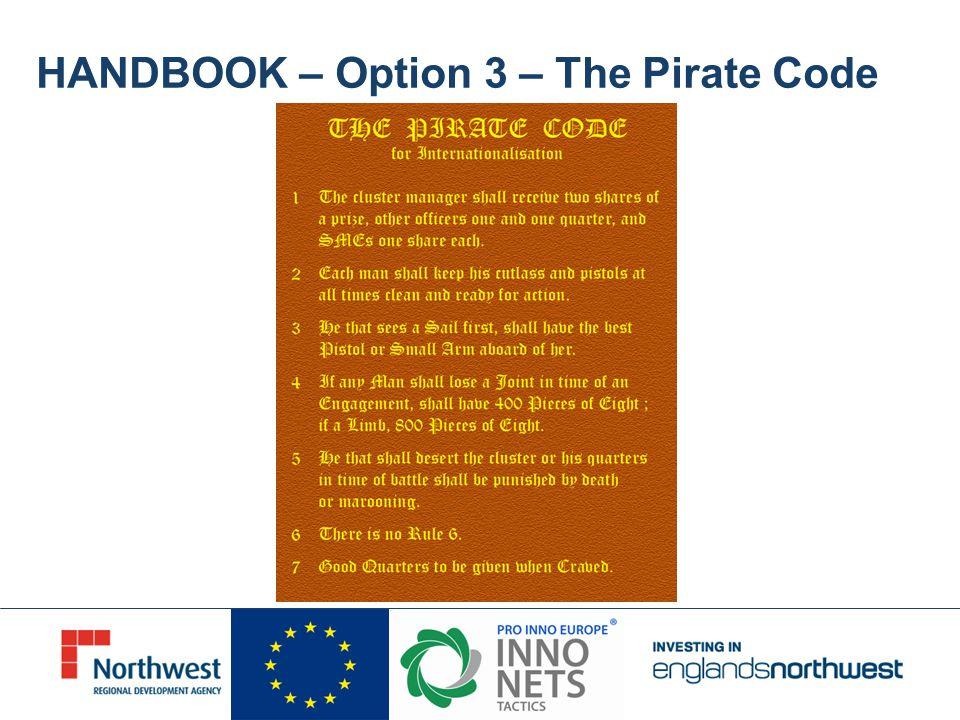 HANDBOOK – Option 3 – The Pirate Code