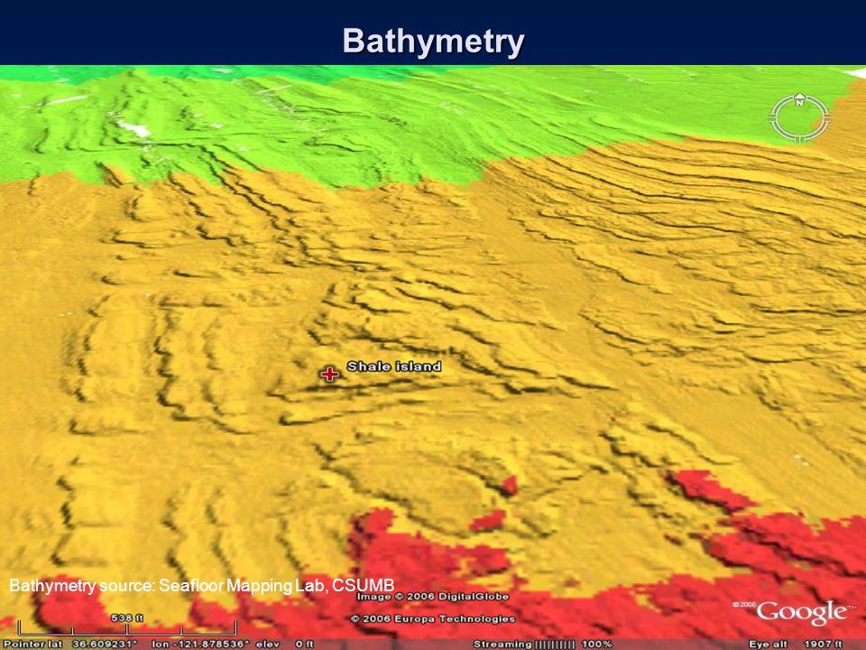 Bathymetry Bathymetry source: Seafloor Mapping Lab, CSUMB