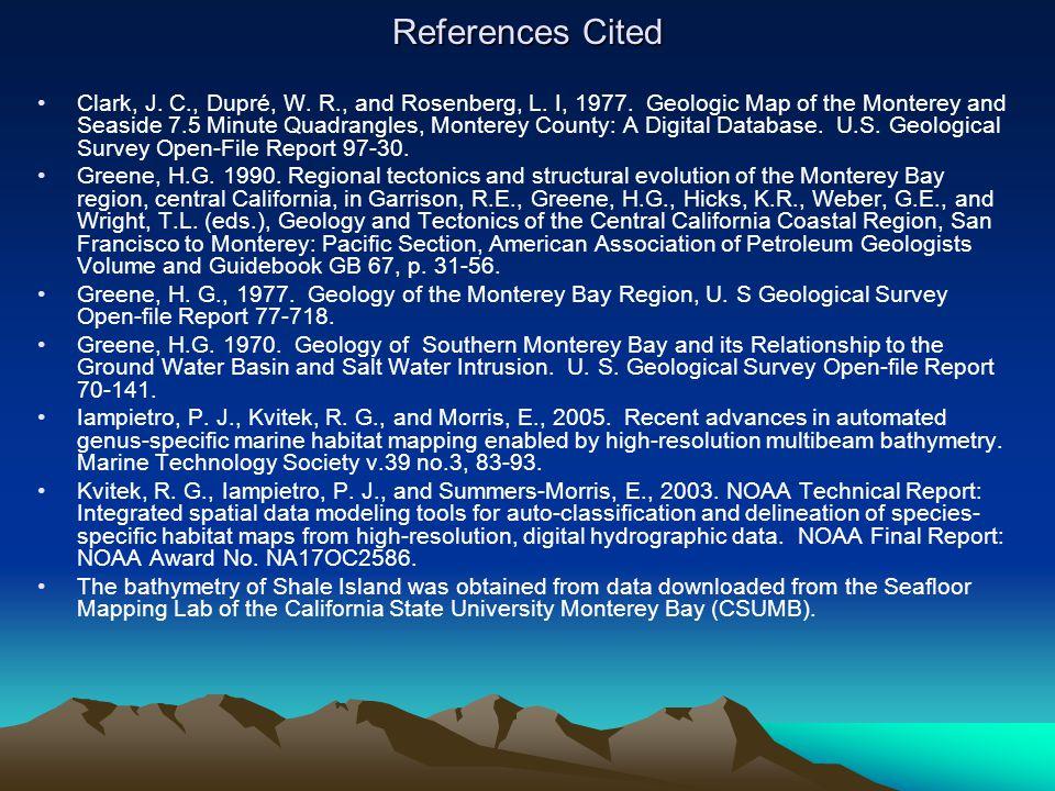 References Cited Clark, J. C., Dupré, W. R., and Rosenberg, L.