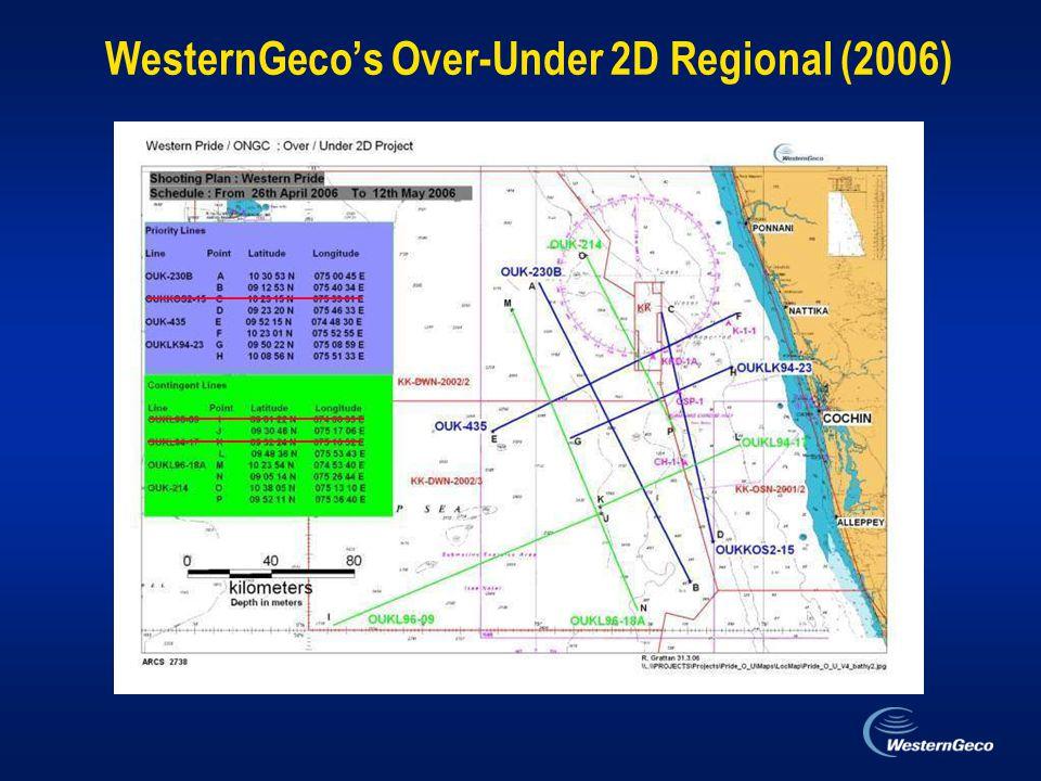 WesternGeco's Over-Under 2D Regional (2006)