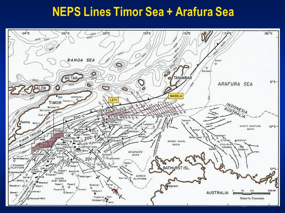 NEPS Lines Timor Sea + Arafura Sea
