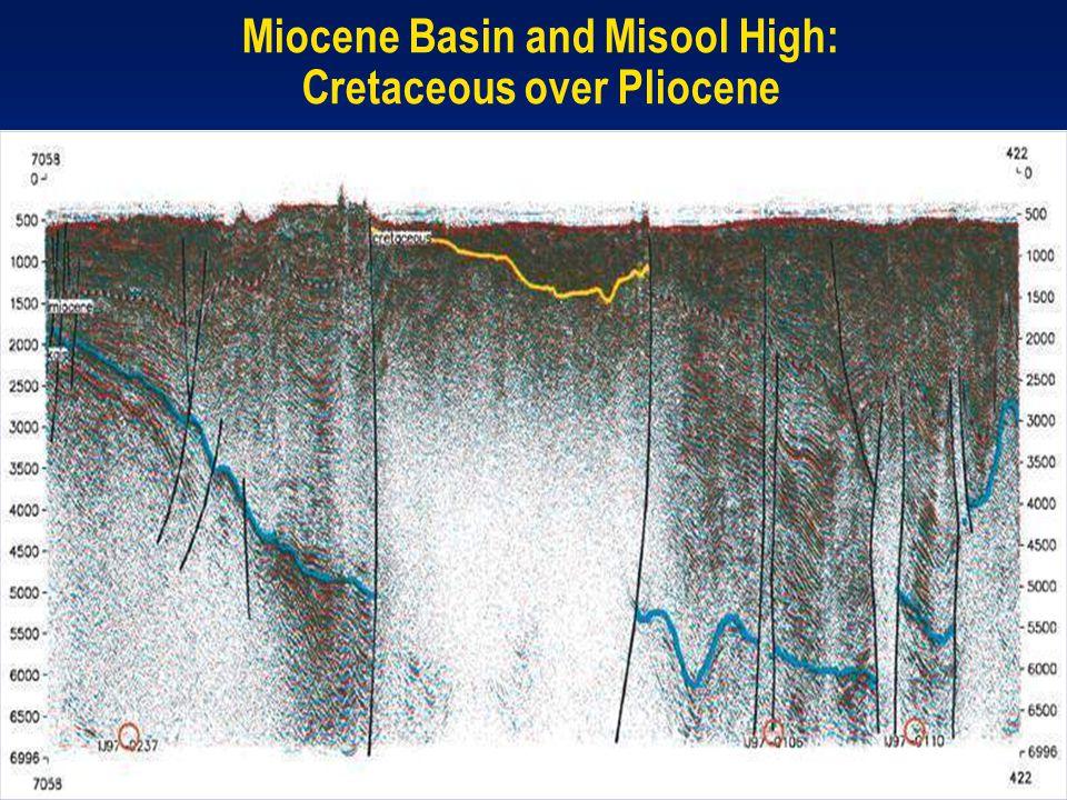 Miocene Basin and Misool High: Cretaceous over Pliocene