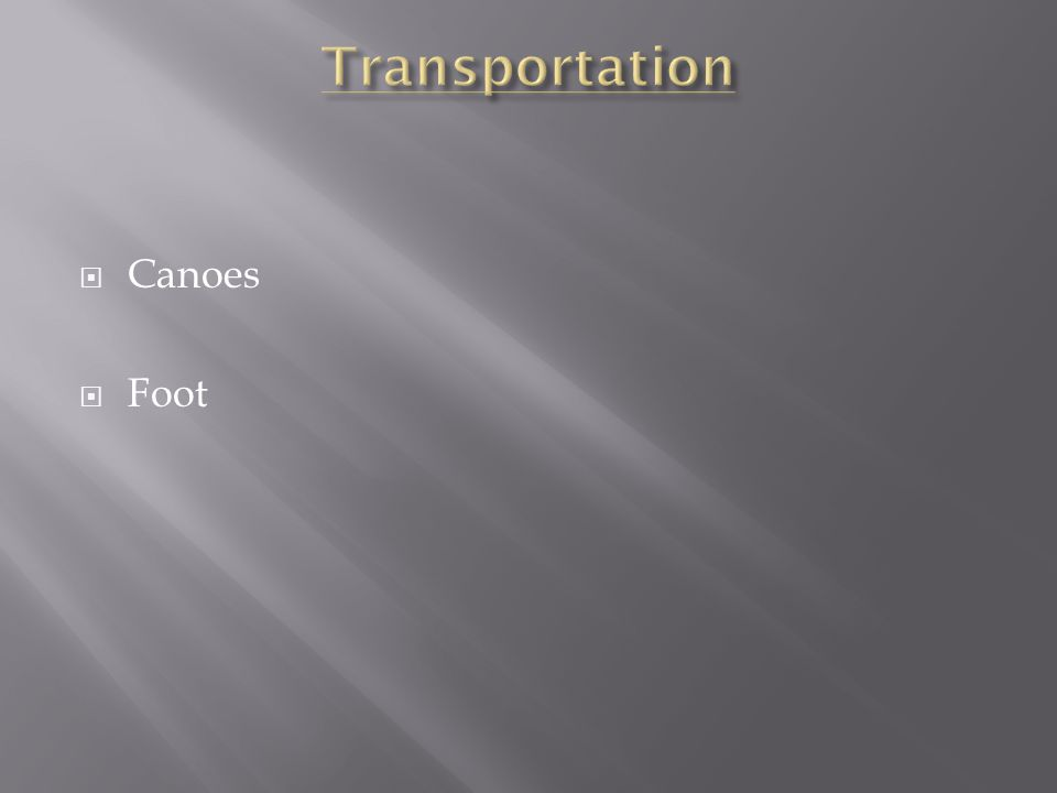  Canoes  Foot