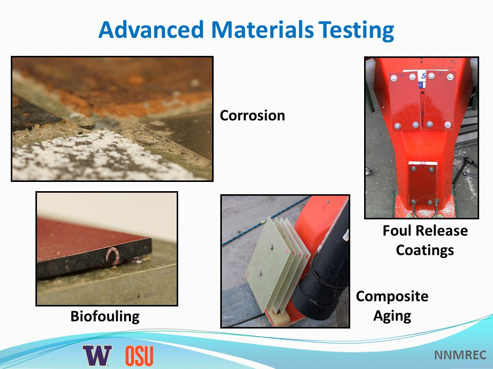 NNMREC Advanced Materials Testing Composite Aging Biofouling Foul Release Coatings Corrosion