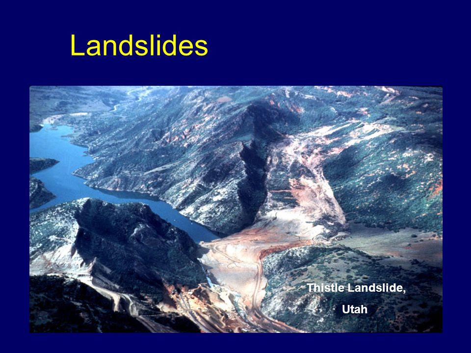 Landslides Thistle Landslide, Utah