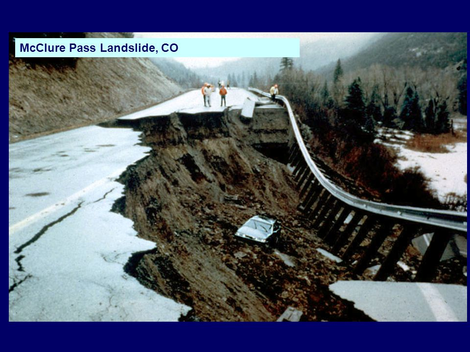McClure Pass Landslide, CO