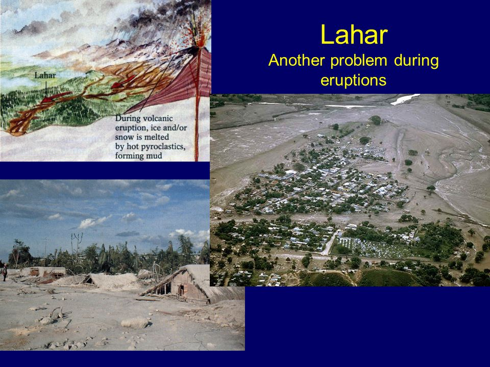 Lahar Another problem during eruptions