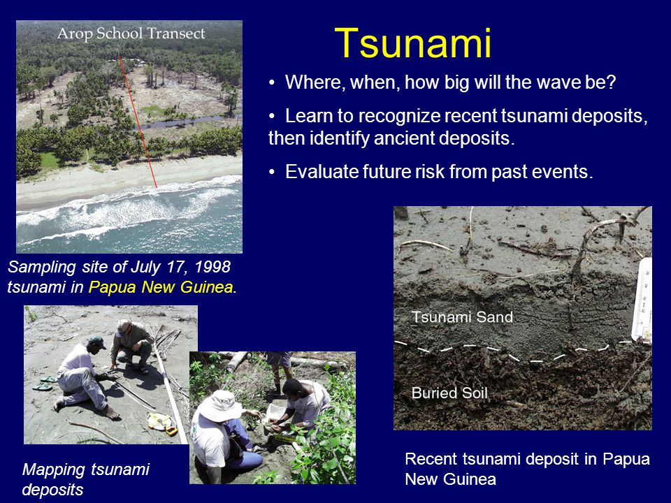 Tsunami Where, when, how big will the wave be.