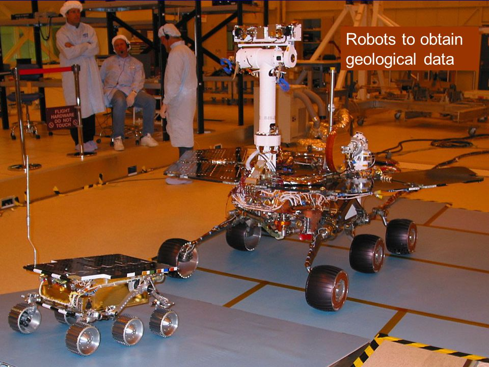 Robots to obtain geological data