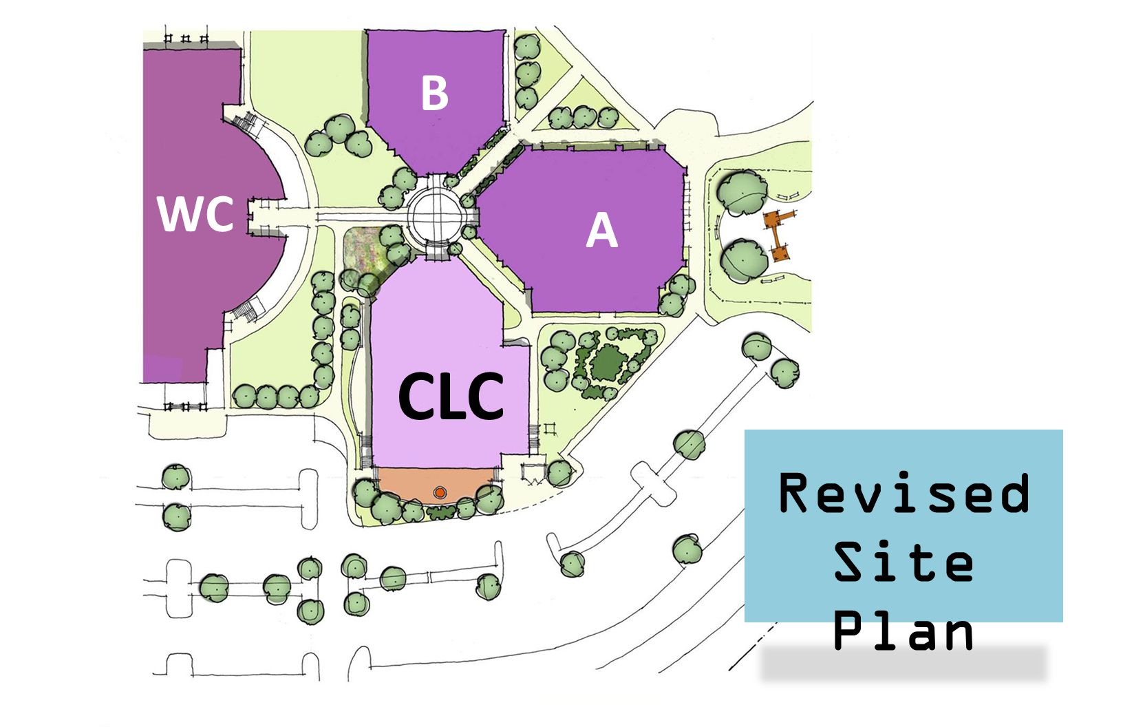 Revised Site Plan CLC A B WC