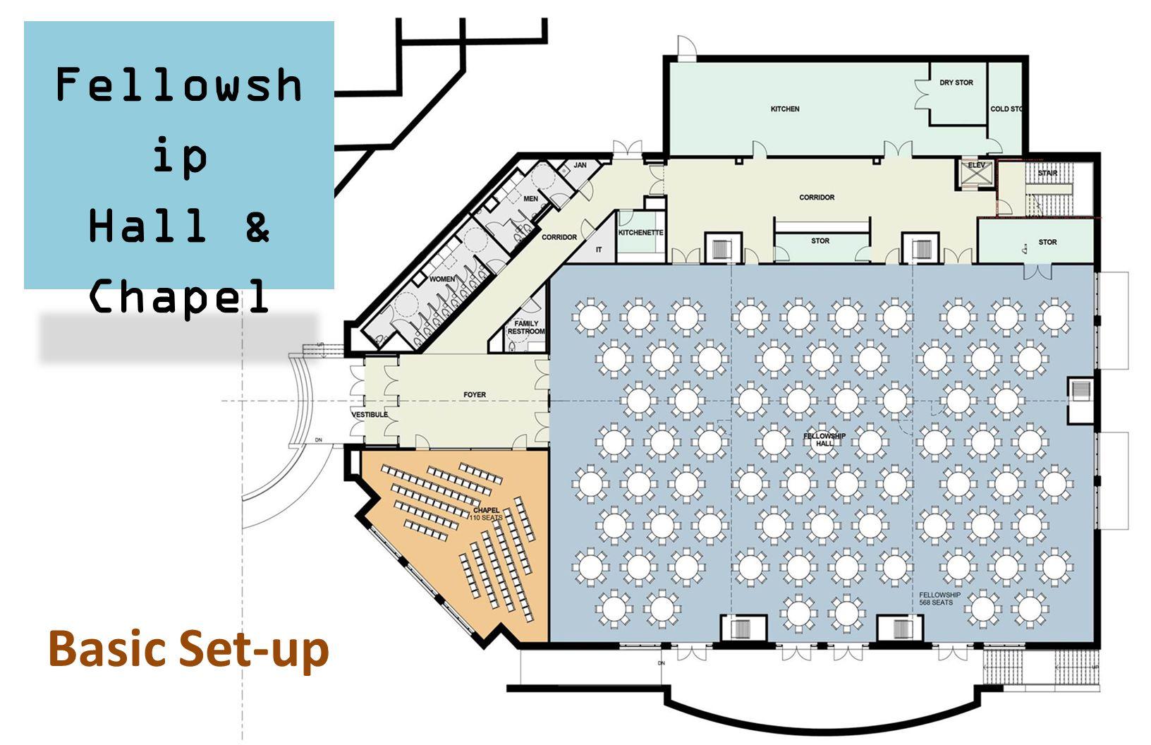 Fellowsh ip Hall & Chapel Basic Set-up