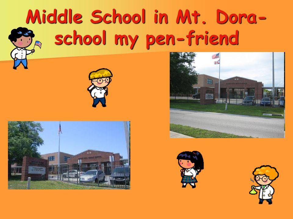 Middle School in Mt. Dora- school my pen-friend