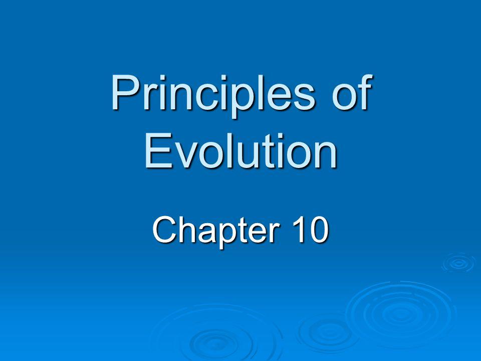 Principles of Evolution Chapter 10