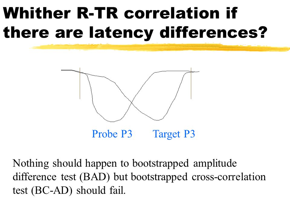Whither R-TR correlation if there are latency differences.