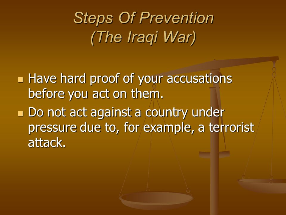 Related Accusations And Events 2) Iraqi War Causes 9/11 causes American panic.