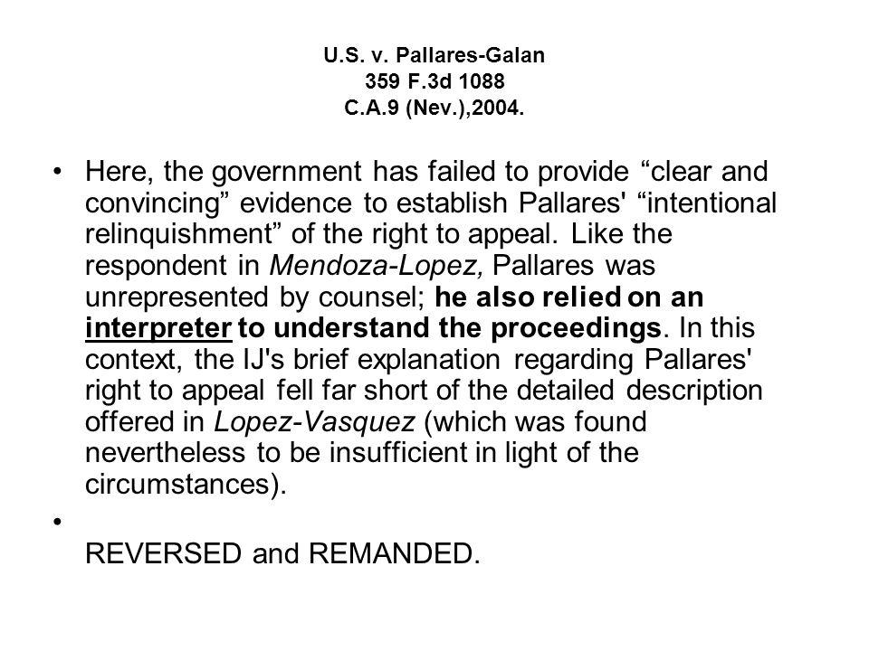 U.S. v. Lopez-Vasquez 985 F.2d 1017 C.A.9 (Cal.),1993. Question and Answer Lopez Vazquez.wpd Because neither Lopez-Vasquez nor the district court cons
