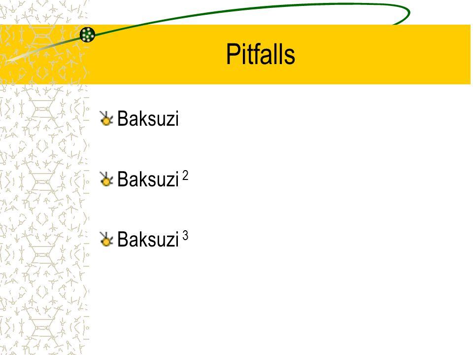 Pitfalls Baksuzi Baksuzi 2 Baksuzi 3