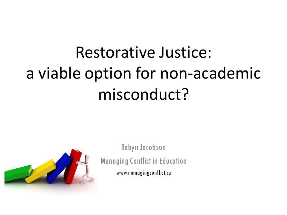 Restorative Justice can...