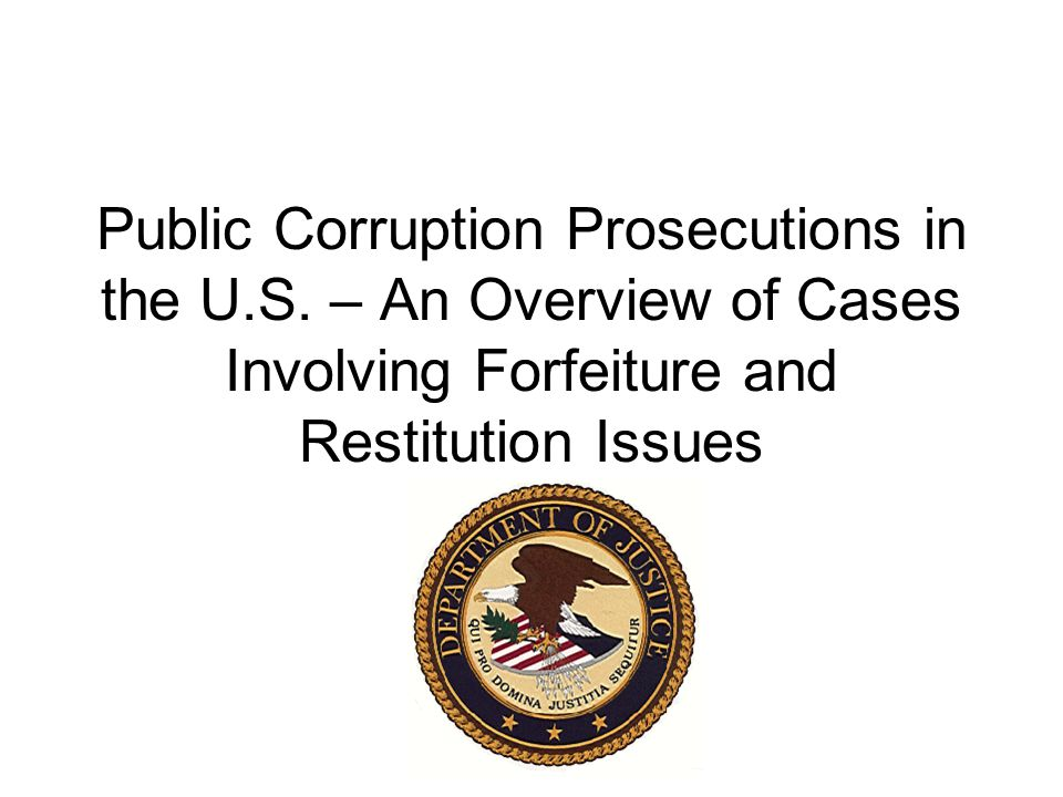 Public Corruption Prosecutions in the U.S.