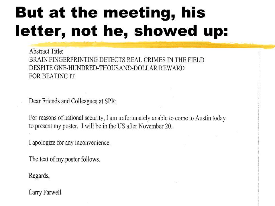 Farwell (SPR '08) didn't agree:
