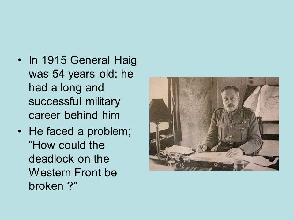 What did Haig believe .