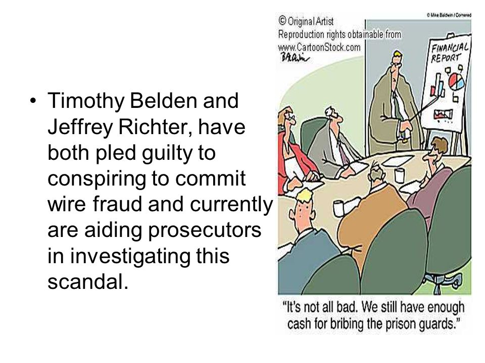 Timothy Belden and Jeffrey Richter, have both pled guilty to conspiring to commit wire fraud and currently are aiding prosecutors in investigating this scandal.