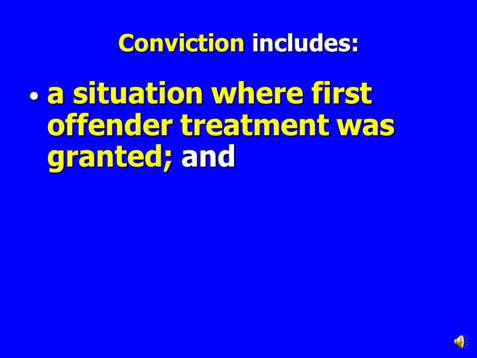 Conviction includes: a plea of nolo contendere; a plea of nolo contendere;
