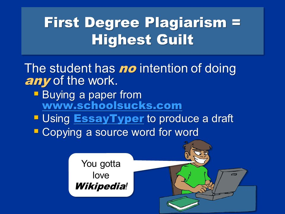 Plagiarism does have degrees of guilt...
