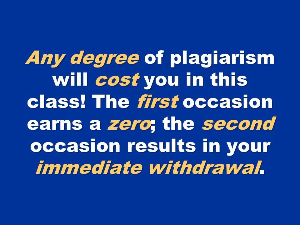 Misdemeanor Plagiarism The student misuses quotation marks or incorrectly builds parenthetical references.